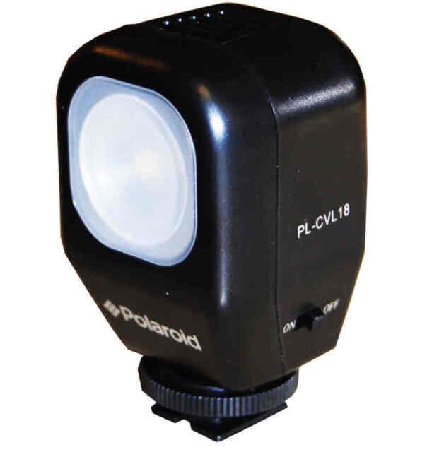 Polaroid Studio Series Camcorder Video Light + Accessories