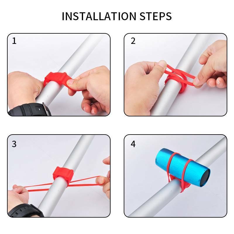 Handlebar Flashlight Light Holder Bike Fixing Elastic Bandages Silicone Strap