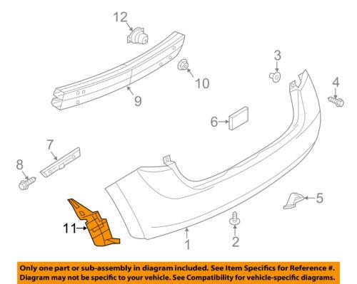 NISSAN OEM 14-16 Versa Note Rear Bumper-Closure Panel Left 788193WC0A