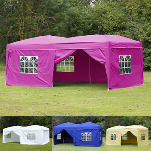Image is loading 20X10-039-EZ-Pop-Up-Outdoor-Folding-Tent- & 20X10u0027 EZ Pop Up Outdoor Folding Tent Gazebo Wedding Party Canopy ...