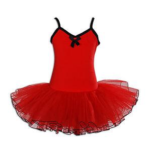 Neuf-Filles-Red-Tutu-Danse-Ballet-Classique-7-8-Ans