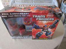 Transformers 2008 Action Figure 25th Anniversary Optimus Prime+Comic& DVD MISB