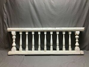 Antique Victorian Porch Rail Section White Spindle White ...