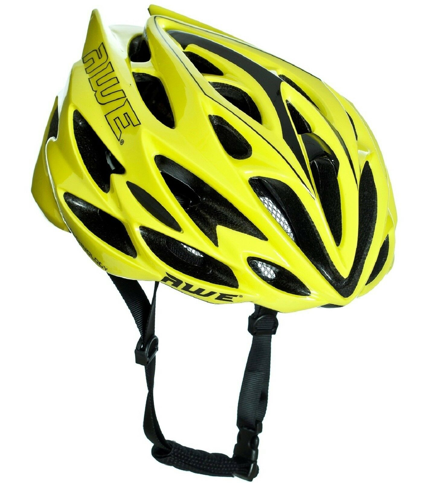AWE  AWESpeed™ In Mould Adult Mens Road Cycling Helmet 58-62cm Neon Yellow