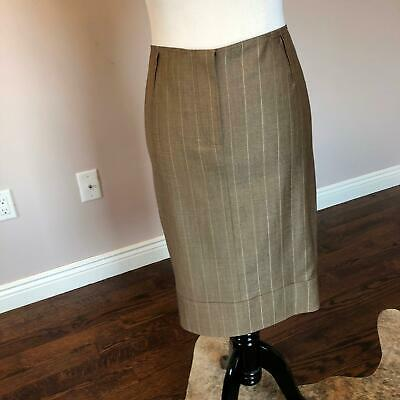 Cooperative Nwot John Galliano Beige Pencil Skirt Sz Fr 42/us 8 Skirts