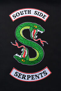 75a6e70913e5 Image is loading Riverdale-South-Side-Serpents-Inspired -Embroidered-Patch-Southside-