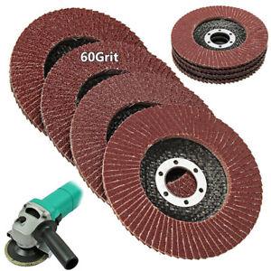 115mm/4.5'' Flap Wheels Grinding Sanding Discs 60 Grit Angle Grinder ZIYR