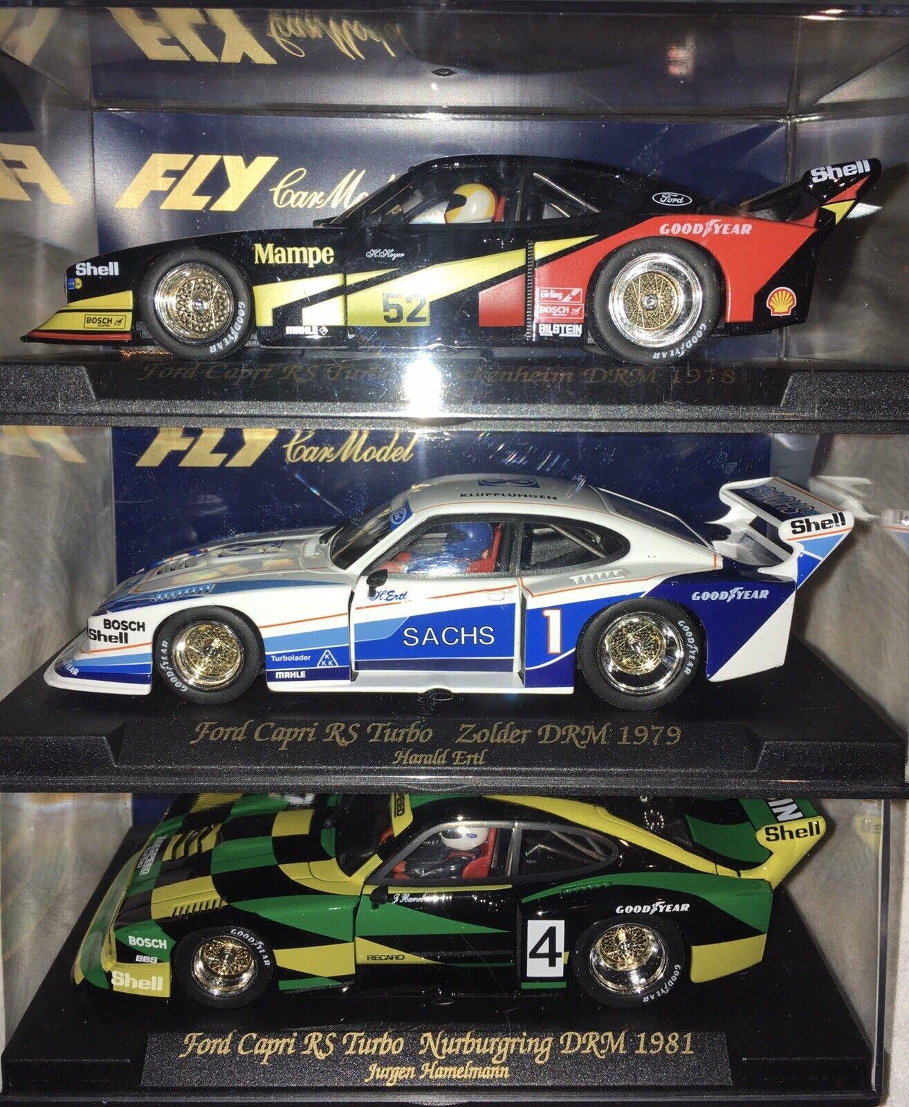 3 x Fly SMasse voiture Ford Capri RS Turbo Mampe, Sachs, Pentosin  1 32