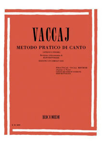 RICORDI-Vaccaj-METODO-PRATICO-DI-CANTO-Soprano-o-Tenore-CD