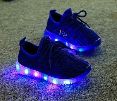 Leuchtende LED Licht Kinderschuhe Freizeit Turnschuhe Sneaker Sportschuhe Schuhe