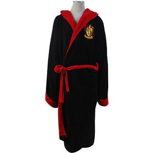 Harry-Potter-Gryffindor-Hooded-Fleece-Bath-Robe-Manttle-Kimono-Cloak-Bathrobe