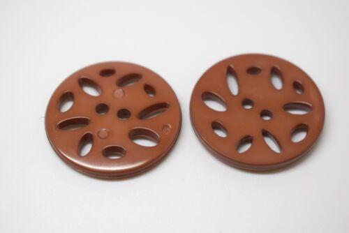 CHOOSE COLOUR LB6870-25mm 5pcs RARE LARGE MULTIHOLES PLASTIC ITALIAN BUTTONS