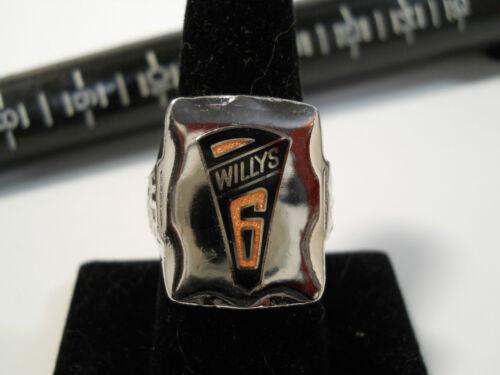 1931 Stile Willys Sei 6 Logo Closionne Nickel Anello Argento Overland Motore