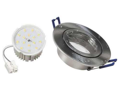 3xFlache Flat Led Feuchtraum Einbauspot nm+neutralweiß Led Höhe nur 30mm 230V