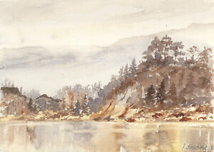 James-Frank-Adams-1923-2008-1991-Watercolour-African-River-Landscape