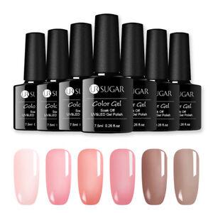 UR-SUGAR-7-5ml-Soak-Off-UV-Gellack-Jelly-Nackt-Transluzent-Gel-Polish-Nail-Art