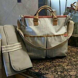 Skip Hop French Stripe Duo Diaper Bag Ebay