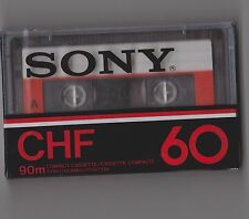 SONY CHF 60 90m (×1): MADE IN FRANCE NEW SEALED BLANK CASSETTE TAPE
