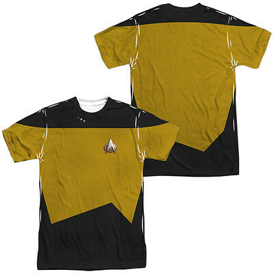 Star Trek TNG SCIENCE UNIFORM 2-Sided All Over Print Long Sleeve Poly T-Shirt