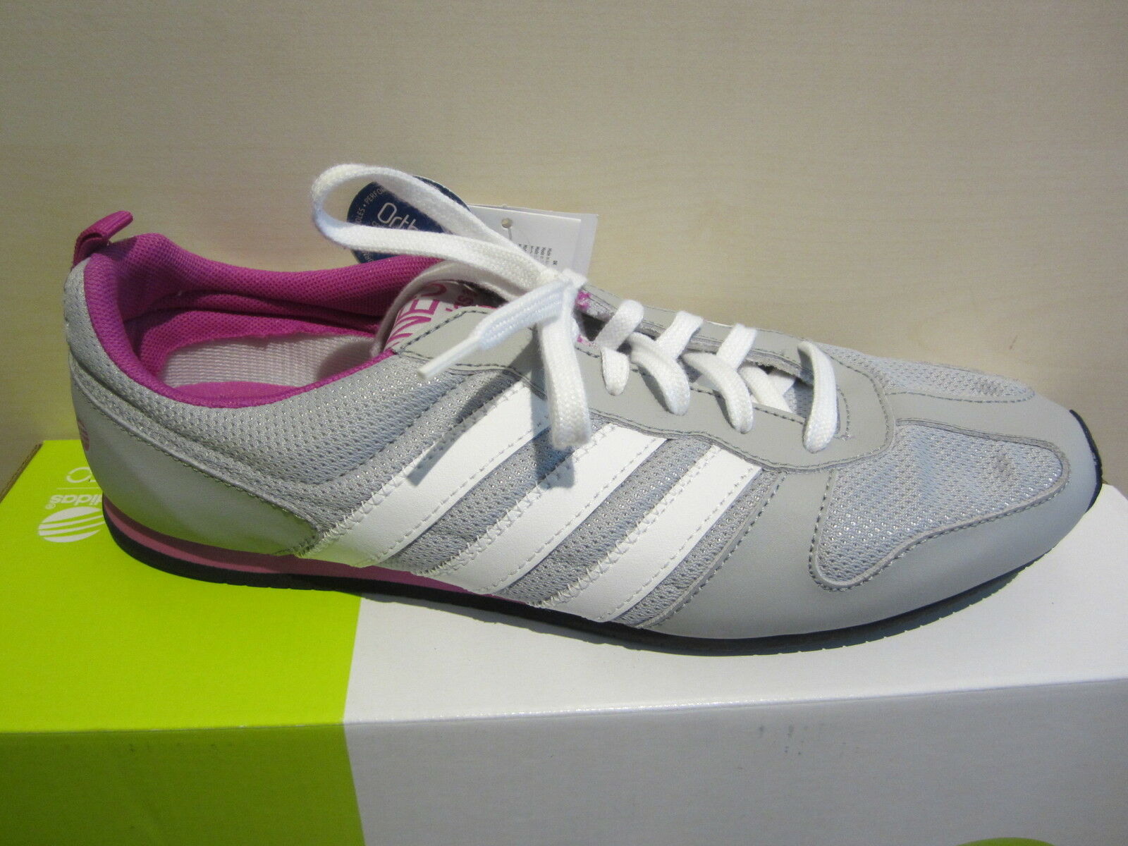 Adidas Lace up Sneaker Grey White New