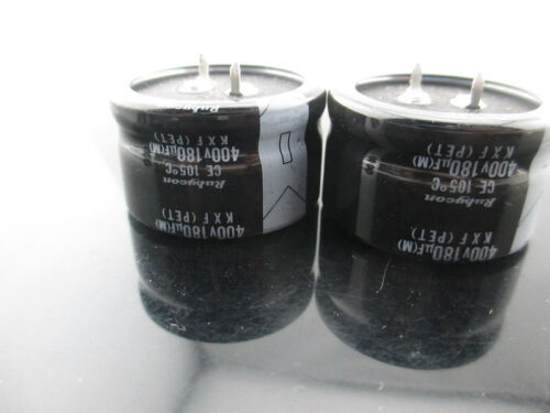 20pcs RUBYCON KXF 180mfd 400V 180UF electrolytic Capacitor 105℃ 35X20mm