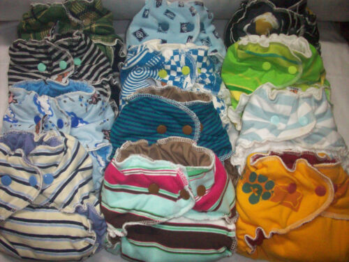 Random Try One MamaBear Cotton One Size Fitted Cloth Diapers trim and cute!