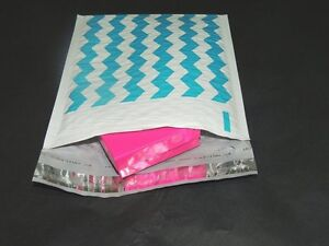 30 Teal Chevron Poly Bubble Mailers,6x9 Padded Mailing Shipping