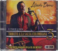 SEALED - Alberto Barros CD NEW Tributo A La Salsa 3 CD+DVD El Titan De La Salsa