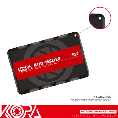 Kora ultra delgado de tamaño de tarjeta de crédito titular de la tarjeta de memoria se ajusta de 10 tarjetas Micro SD Msd