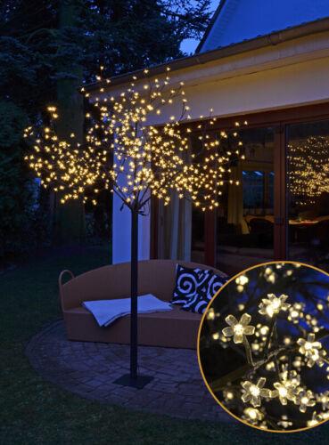 AUßEN 600 LED warmweiß Kirschblütenbaum für INNEN XXL Lichterbaum 2,5m