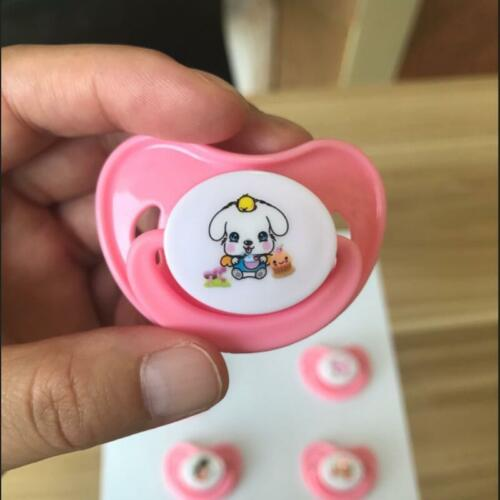 Cute cartoon Magnetic Pacifier Dummy For Reborn Baby Dolls Feeding Kit Toy Gifts