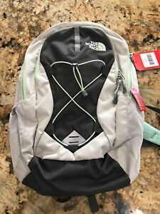 1fb0ad194 Details about The North Face Women's Jester Backpack - Lunar Ice Grey /  Subtle Green