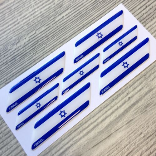 Israel flag 3d domed emblem decal sticker BMW Ferrari Porsche VW AUDI