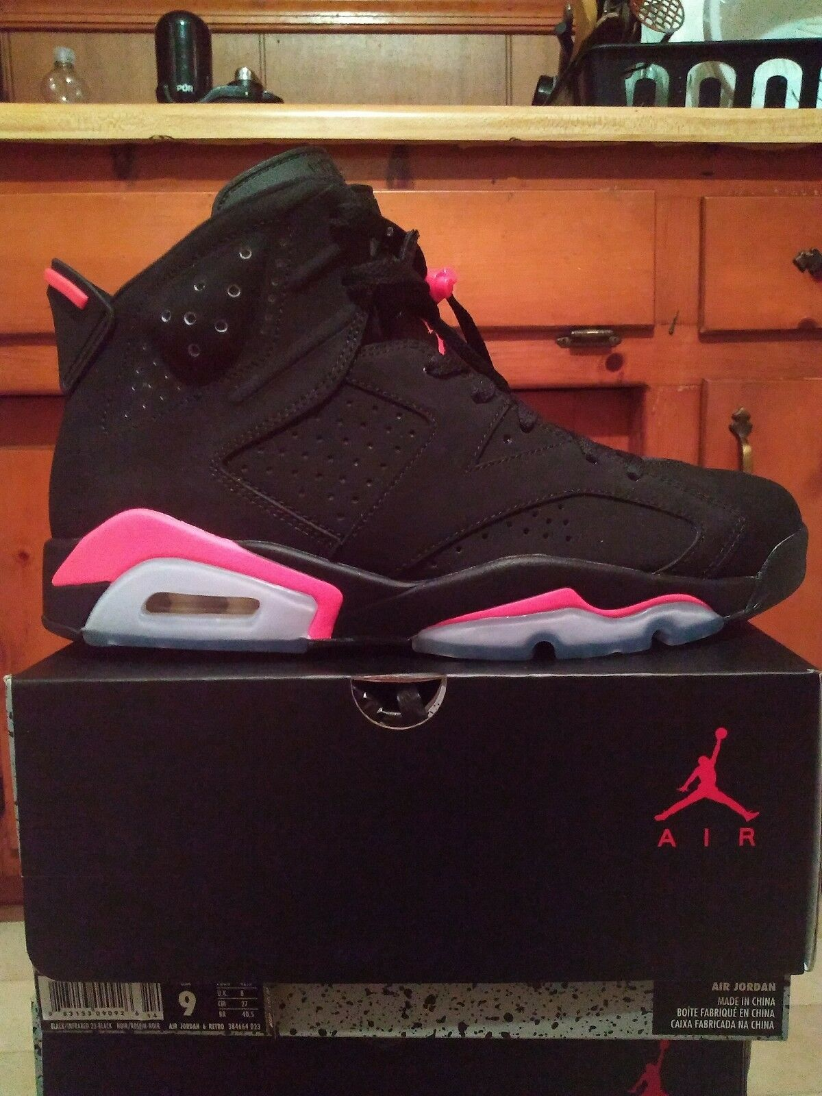 Jordan 6 Black Infrared Size 9 DS
