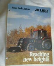 Allied 495 595 695 Front End Loaders Brochure