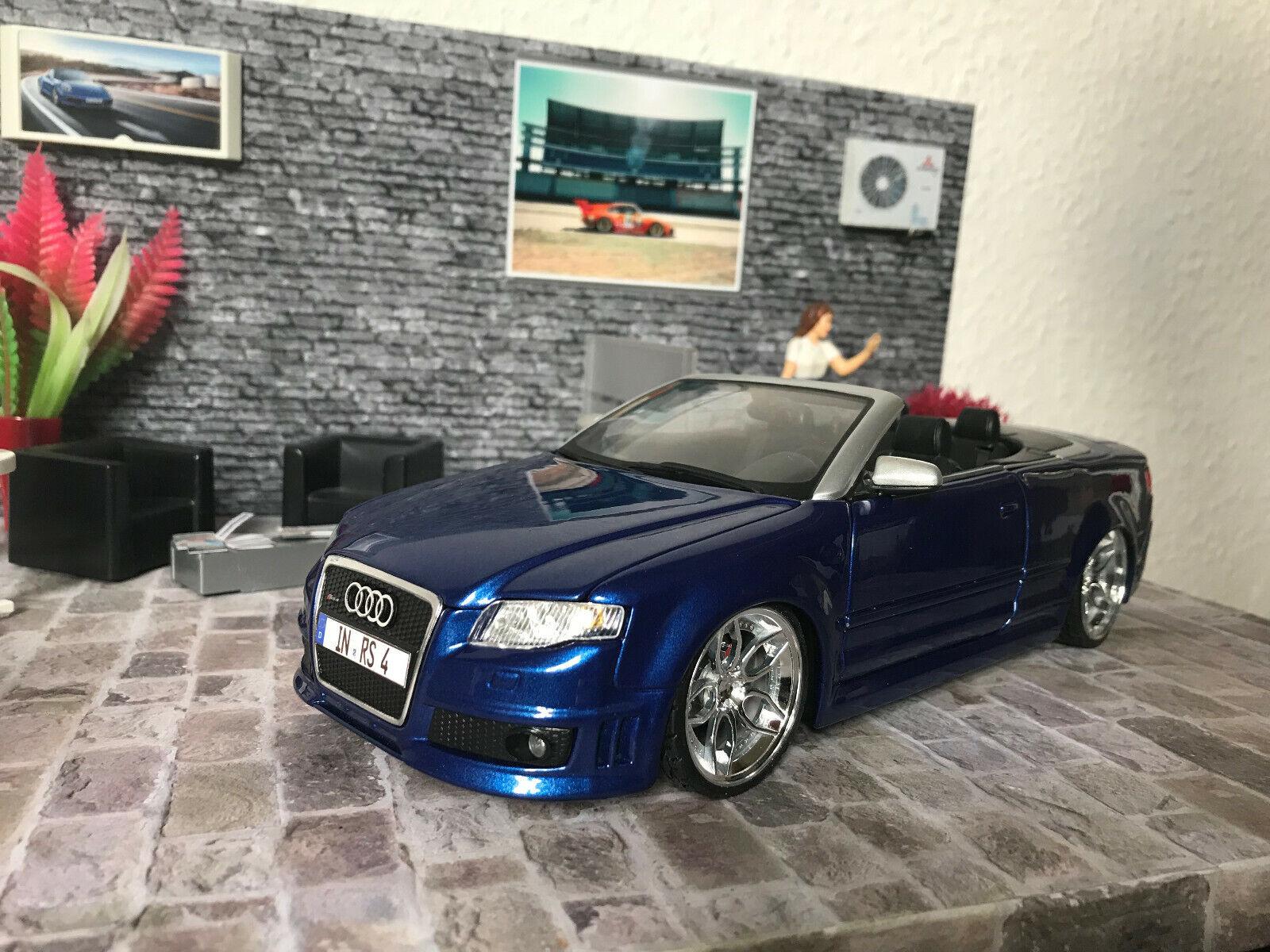 hasta un 50% de descuento Audi rs4 cabrio maisto maisto maisto 1 18 tuning transformación en OVP  única   compra en línea hoy