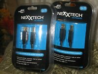 Nexxtech Ultimate Hi-speed Usb 2.0 Gold Plated 6 Ft Cable. Lot Of 2. New.
