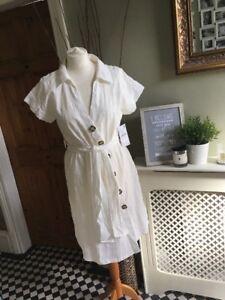 ZARA-Off-White-Textured-Weave-Tunic-Shirt-Dress-Small-BNWT