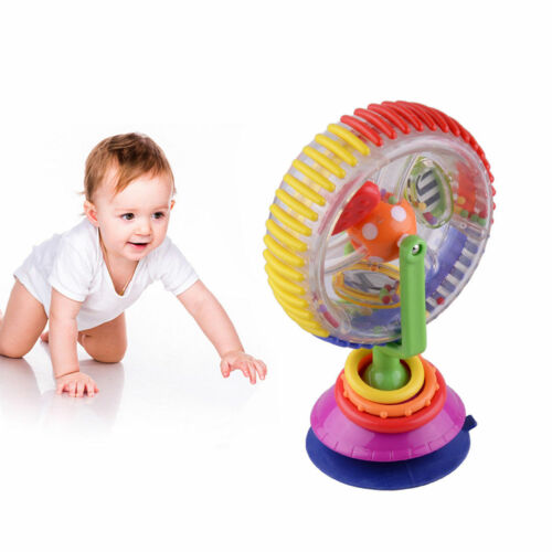 Baby Kid Infant Toy Rainbow Ferris Wheel Rattle Clanking Suction High Chair XMAS