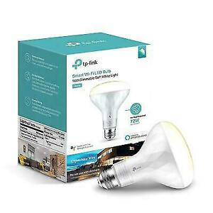 TP-Link Smart LED Light Bulb Wi-Fi Soft White Dimmable BR30 LB200