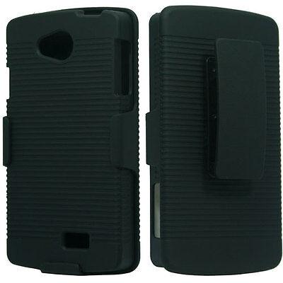 Virgin Mobile LG Tribute LS660 COMBO Belt Clip Holster KickStand +Screen Guard