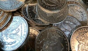 Bulk Lot 1 1921 P or D or S Morgan Silver Dollar 90/% Eagle Rev Bullion