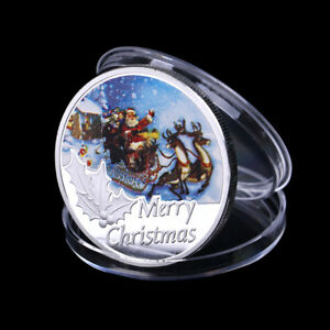 Merry-Christmas-Santa-Claus-Commemorative-Coin-Token-Souvenirs-Xmas-Gi-PQ