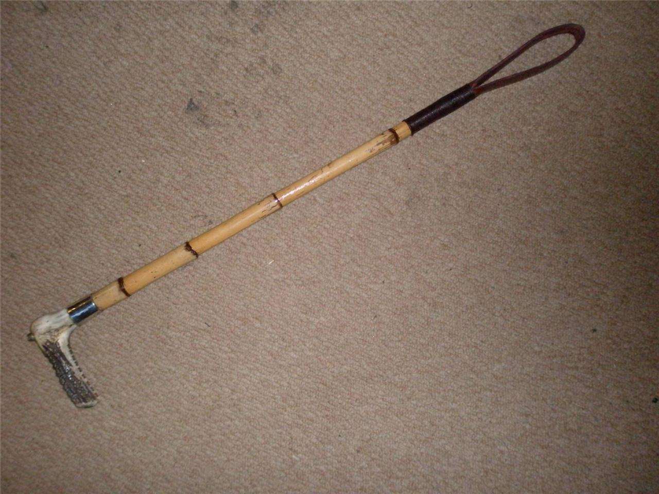 Antique bambou hallmarked gentlemans hallmarked bambou fouet de chasse. 3dda9e