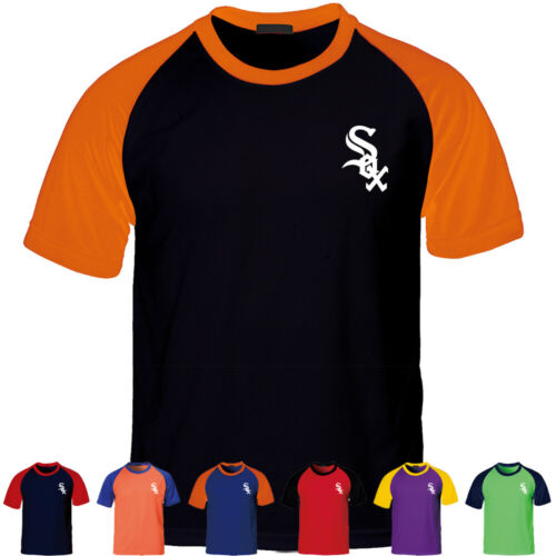 KH2004 Chicago Raglan Jersey Baseball Cool Dry T-Shirts Sport Tee 0100