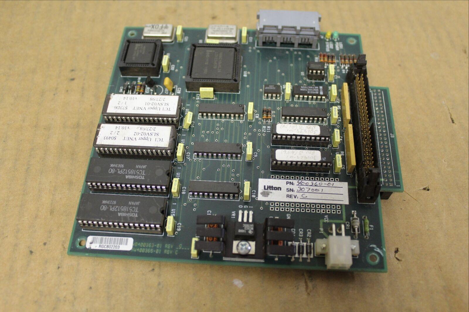 LITTON SASI CIRCUIT BOARD CARD 400363-01 400365-01 REV C