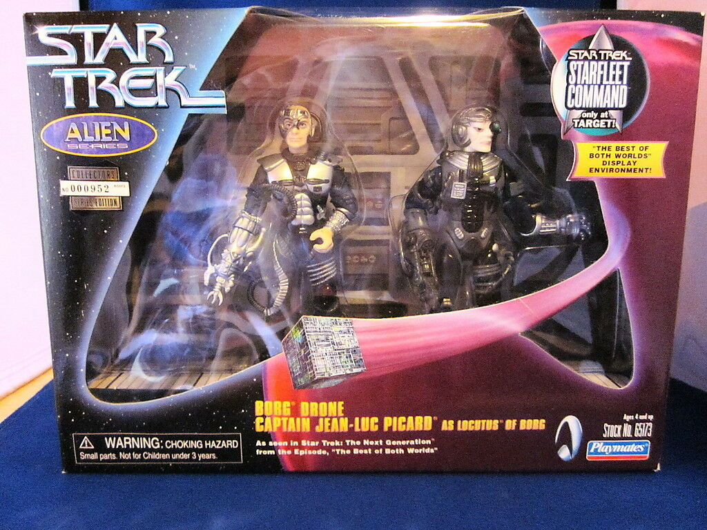 Star Trek Alien Series Borg Drone Captain Jean-Luc Picard Sealed Target Only 952