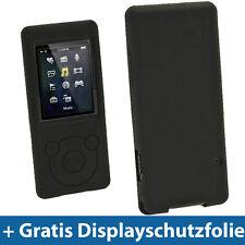 Schwarz Silikon Tasche für Sony Walkman NWZ-E574 NWZ-E575 NWZ-E574B NWZ-E575B