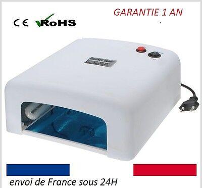 LAMPE UV ONGLES pro BLANCHE  36w TIMER gEL MANUCURE PEDICURE+4 NEONS