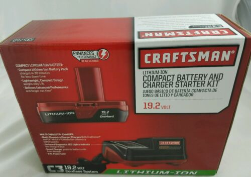 NIB Craftsman C3 19.2-Volt Lithium-Ion Compact Battery and Charger Starter Kit